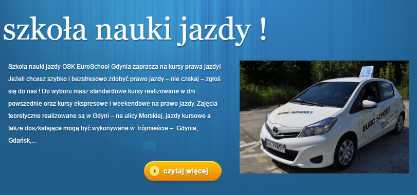 Driving School Euro School Gdynia Gdynia Reviews Phone Number And