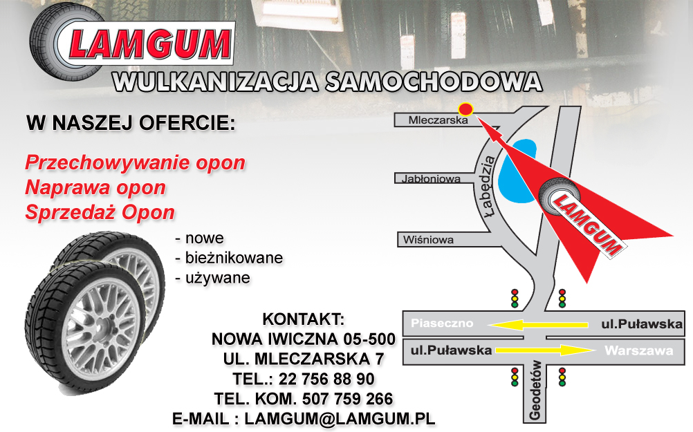 Serwis Lamgum W Mieście Nowa Iwiczna Autobookingcom Polska