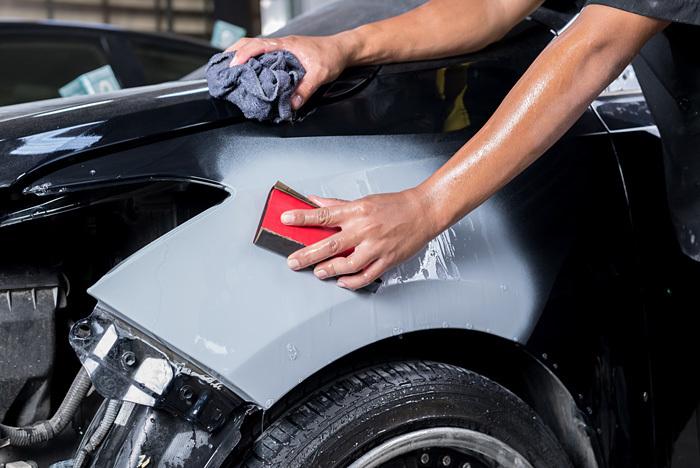 мокрая полировка авто